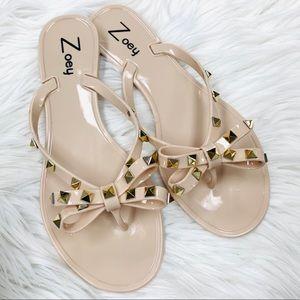 Beige jelly studded sandal